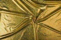 Luxury Elastic Snakeskin Foil Fabric Material - GOLD